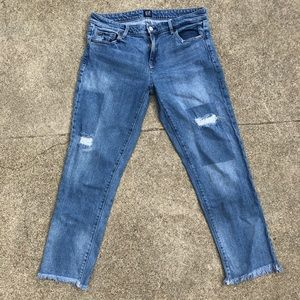 GAP Blue distressed jeans